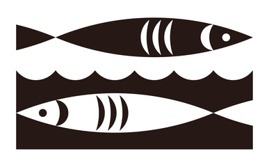 Fish and waves icon