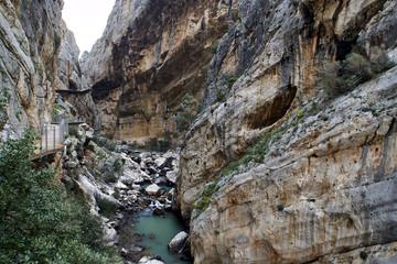 Wall Mural - Caminito del Rey, Valle del Hoyo, Gualdahorce river