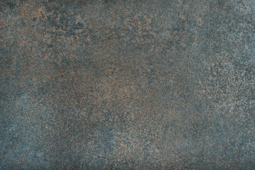 Copper colored natural stone textures, wallpaper and background. Stone formation with iron ore