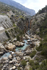 Fototapete - Guadalhorce river crossing the Valle del Hoyo, Andalusia, Spain