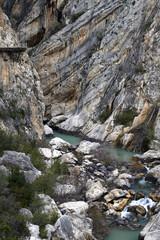 Fototapete - Guadalhorce river at Caminito del Rey, Valle del Hoyo