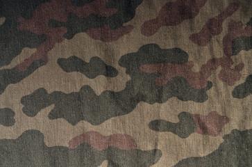 Old camouflage uniform pattern.