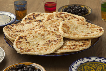 Traditional Moroccan pancakes for breakfast breakfast