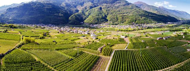 Meleti della Valtellina (IT) - Zona Ponte in Valtellina - Vista aerea verso sud