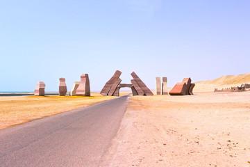 Entrance in the national park Ras Mohammed, Egypt