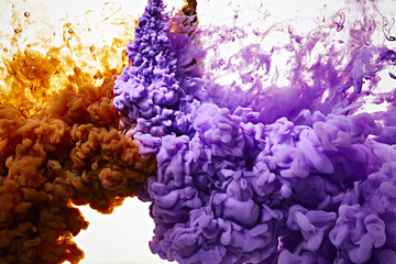 Color ink drop in water