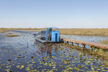 Airboat in the Everglades, Florida