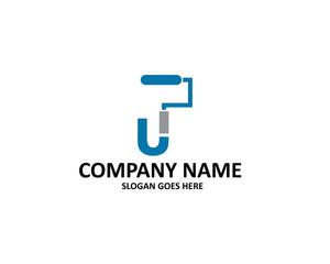 U Letter Paint Logo