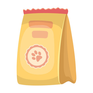 Animal feed package.Pet shop single icon in cartoon style vector symbol stock illustration web.