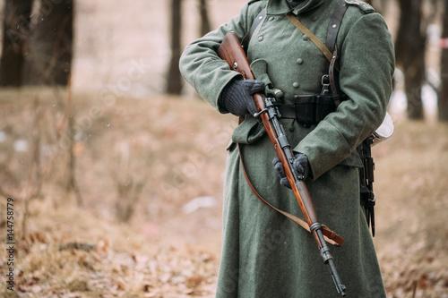 German military ammunition of a German soldier at World War
