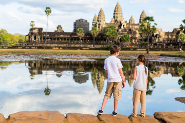 Kids at Angkor Wat temple
