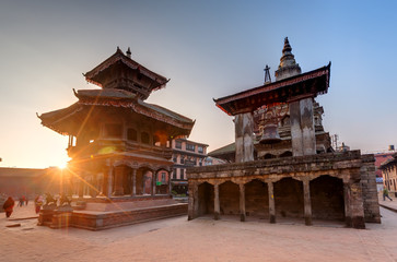 Photo sur Toile Népal Bhaktapur city before earthquake, Nepal