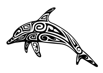 Dolphin tattoo shape