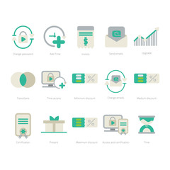 Set of 15 Admin Panel and Dashboard Icons