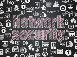 Security concept: Network Security on School board background