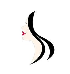 Beauty woman profile logo
