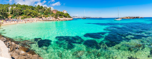 Mittelmeer Spanien Mallorca Strand Bucht Cala Comptessa