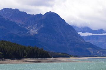 Lake Sherburne in Glacier National Park, Montana