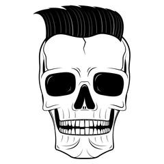 Skull illustration - hipster