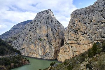 Fototapete - Garganta del Chorro and Caminito del Rey, Desfiladero de los Gaitanes