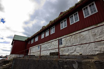 Government buildings in the city of Torshavn in the Faroe Islands