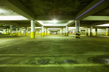 night  Underground parking light