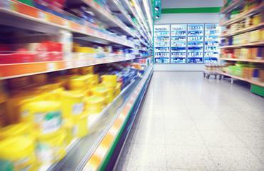 Refrigerator in the supermarket