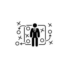Tactics Icon. Flat Design.