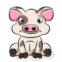 Cute Cartoon Piggy