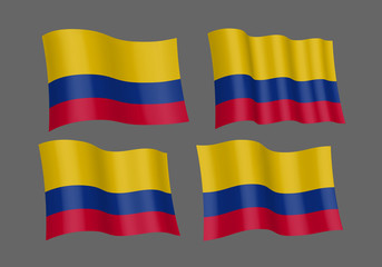 Waving flag of Colombia.