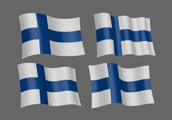 3D Waving flag of Finland