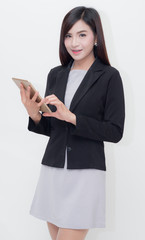 Businesswoman use of mobile phone. young woman used smart phone.