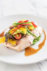 snapper fish steak
