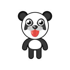 kawaii panda animal toy vector illustration eps 10