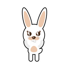 kawaii rabbit animal toy vector illustration eps 10