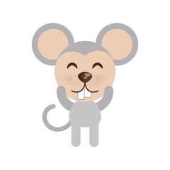 cute mouse animal character funny vector illustration eps 10