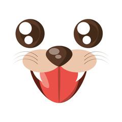 kawaii face tiger animal expression icon vector illustration eps 10