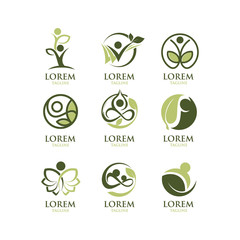 Eco People Logo Set