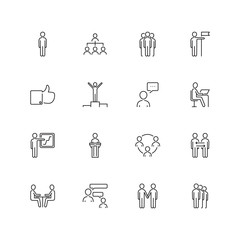 Line, communication, people's image