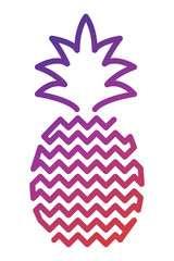 Pineapple Icon Outlined Food Fruits