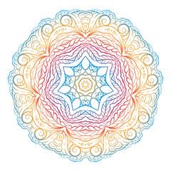 Vector ethnic colorful mandala pattern