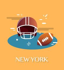 New York American Football.Vactor Illustration.