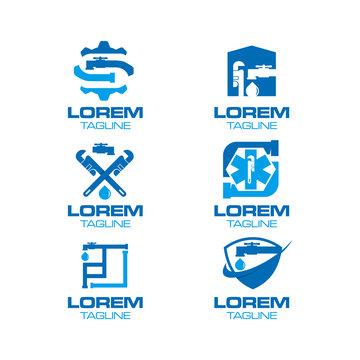Plumbing Logo Set