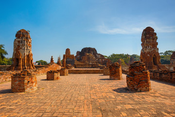 Wat Mahathat Temple in Ayutthaya Historical Park, a UNESCO world heritage site, Thailand