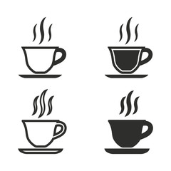 Coffee cup icons set.