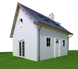 Ideal simple house perspective
