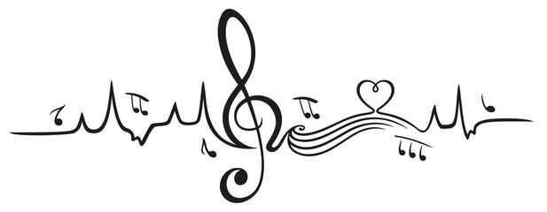 Herzschlag, Liebe zur Musik. Heartbeat, i love music.