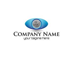 company name eye logo