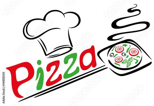 Pizzab cker mit kochm tze und pizza italienisch essen for Koch italienisch