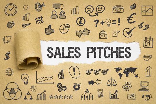Sales Pitches / Papier mit Symbole